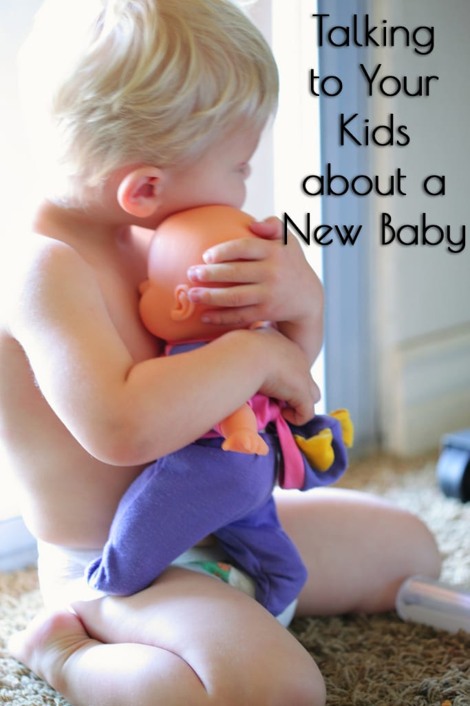 Talking to your kids about a new baby