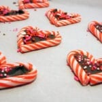 Candy Cane Valentines Treats