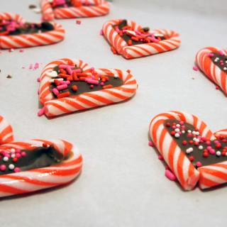 Candy Cane Valentines Treats