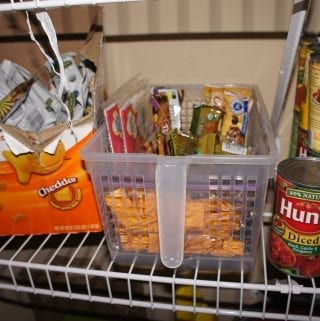 Project Pinterest: Organizing the Pantry and Kids Hungry Box