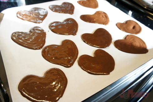 heart shaped brownies