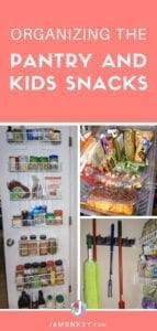 Organizing the Pantry and a Kids Hungry Snack Box
