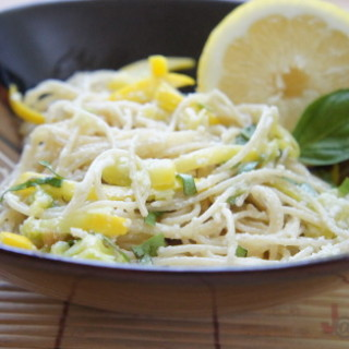 Lemon and Garlic Pasta with Squash Recipe