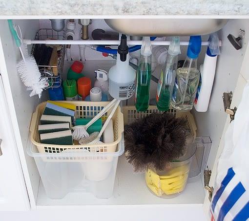 under sink organization