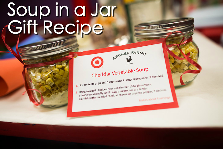 Cheddar Vegetable Soup in a Jar Recipe