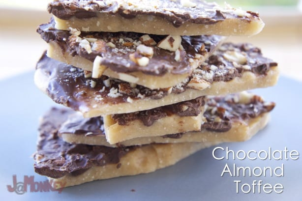Chocolate Almond Toffee #Recipe
