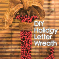 DIY Letter Wreath