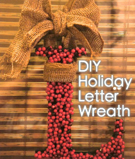 DIY Holiday Letter Wreath