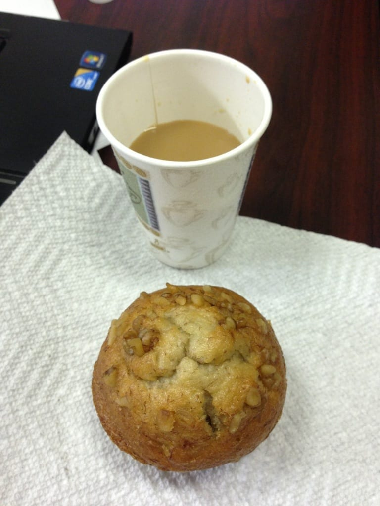 Banana Nut Muffin and Coffee