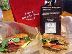 Wendy's Flatbread Sandwich