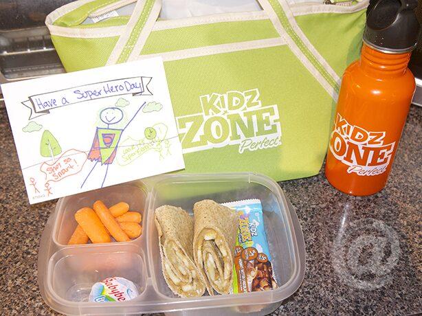 Peanut & Banana Wrap Bento Box with Kidz ZonePerfect