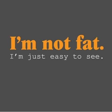 Not fat easy to see quote