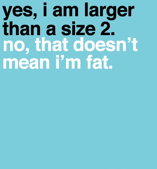 size 2 fat
