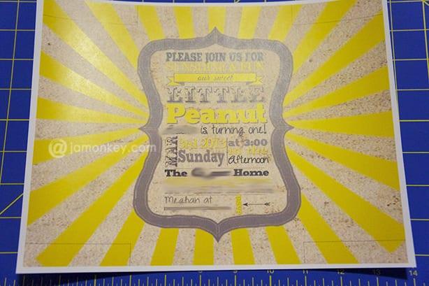 free diy self mailing folding invitations template jamonkey