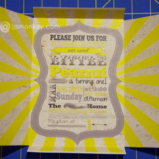 Free DIY Self Mailing – Folding Invitations Template