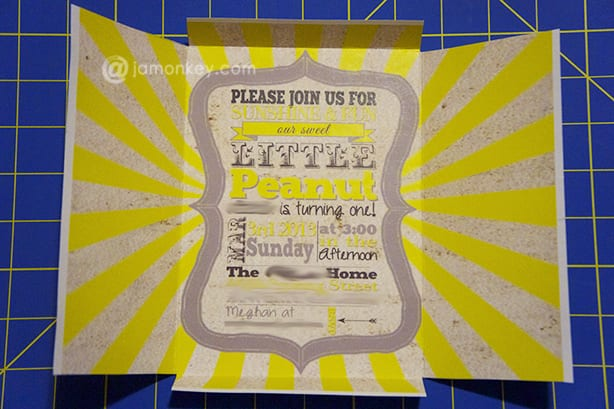 Free DIY Self Mailing - Folding Invitations Template - JaMonkey