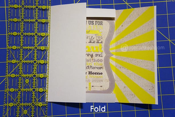 Self Mailing - Folding Invitations