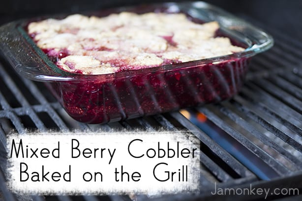 Mixed Berry Cobbler Baked on the Grill