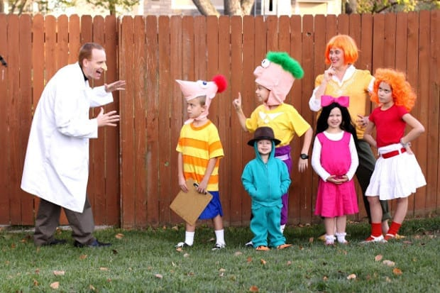 Disney's Phineas and Ferb Family Costumes