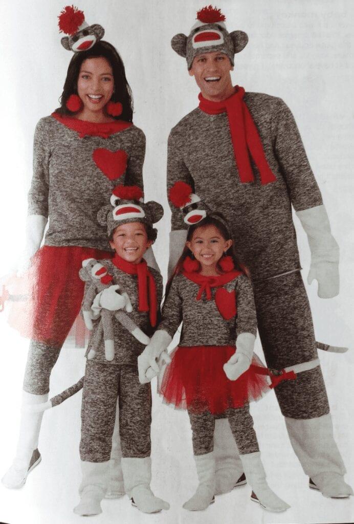 Sock Monkey Family Costume