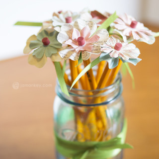 Pencil Flowers – Teacher Gifts Project Pinterest