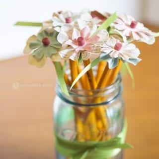 Pencil Flowers - Teacher Gifts