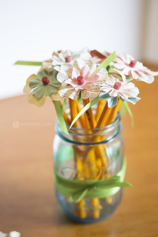 Pencil Flowers - Teacher Gifts Project Pinterest — JaMonkey