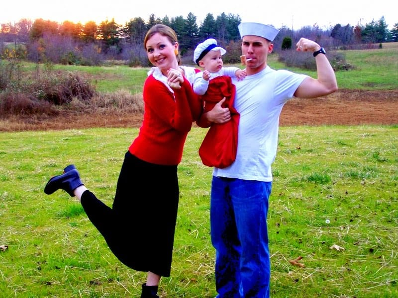 Popeye family costume