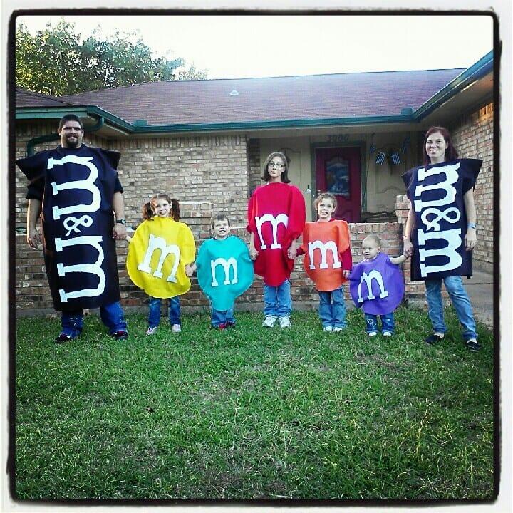 M&M family costume