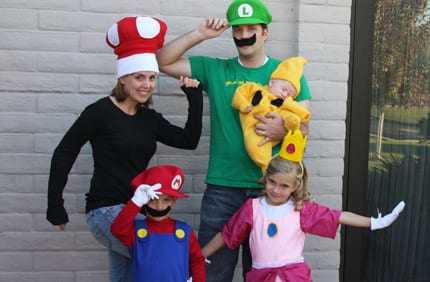 Super Mario Luigi Princess Peach and Toad Costumes