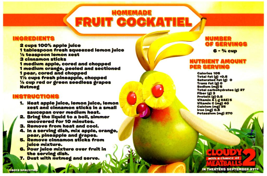 Fruit Cockatiel Foodimal Recipe