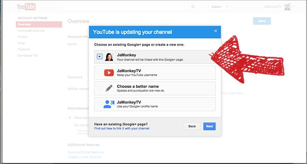 how to change your main account on google