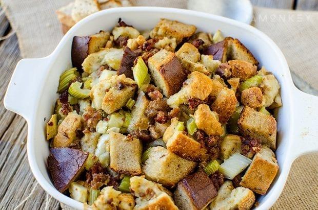 Jewish Rye Bread Sausage and Apple Stuffing Recipe