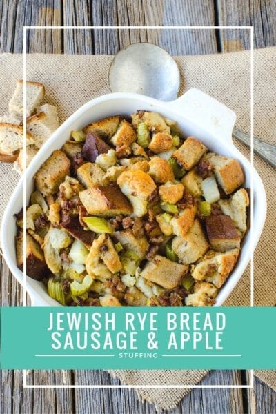 Jewish Rye Bread Sausage and Apple Stuffing Recipe