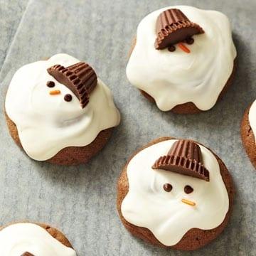 Chocolatey Melting Snowmen