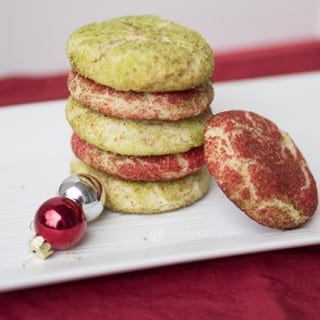 Colorful Snickerdoodle Cookies