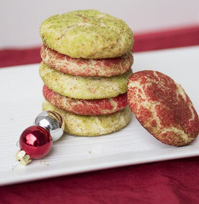 Colored Snickerdoodle Cookies