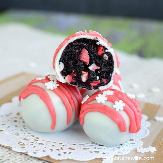 Peppermint Crunch Oreo Truffles