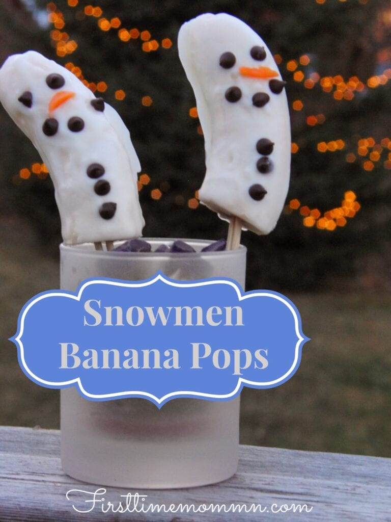 Snowmen+Banana+Pops.+First+Time+Mom.+