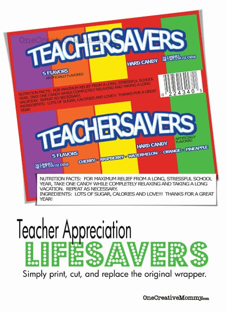 Teacher Savers Teacher Appreciation Gift