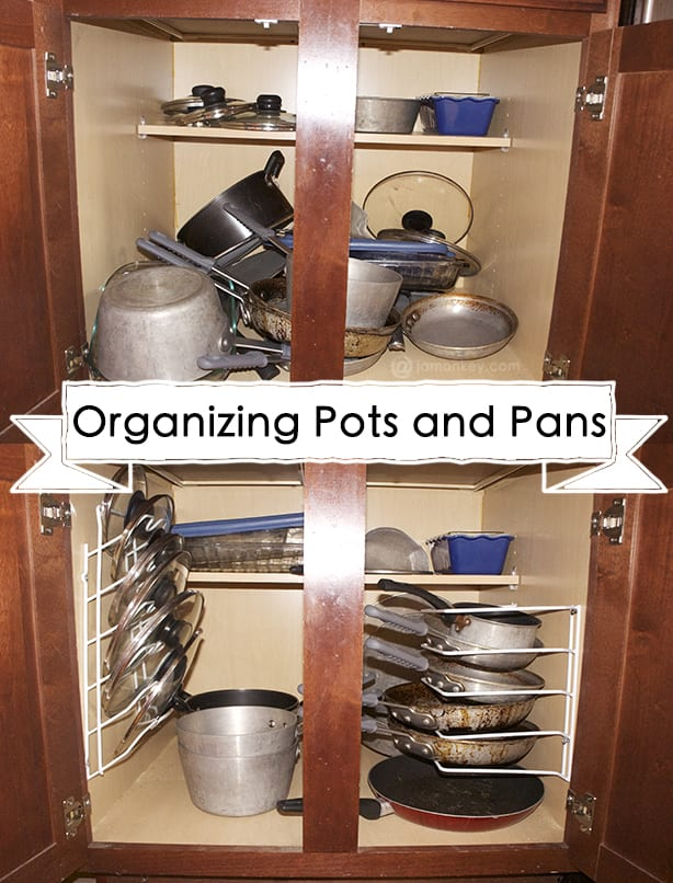 Organizing Your Kitchen Organizing your pots and pans jamonkey organizingpotsandpans workwithnaturefo