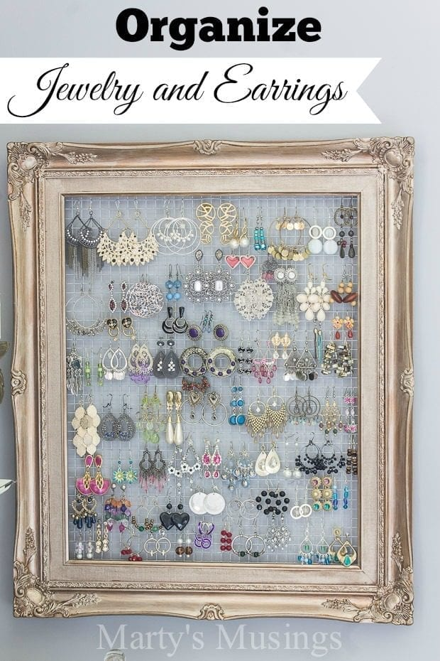 jewelry and earring organizer