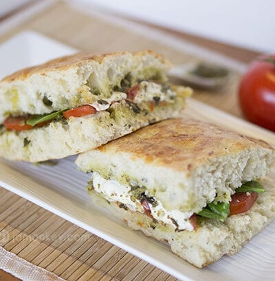 Roasted Tomato and Mozzarella Sandwich - Starbuck Copycat