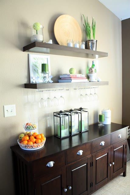 50 organizing ideas for every room in your house jamonkey for Dining room shelf decorating ideas