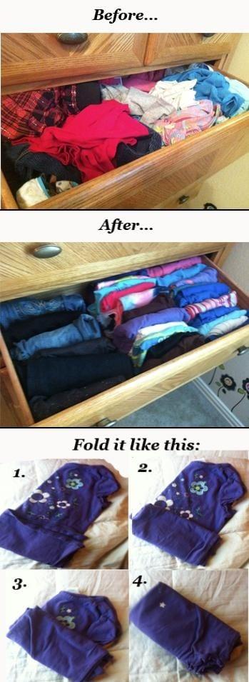 folding kids clothes
