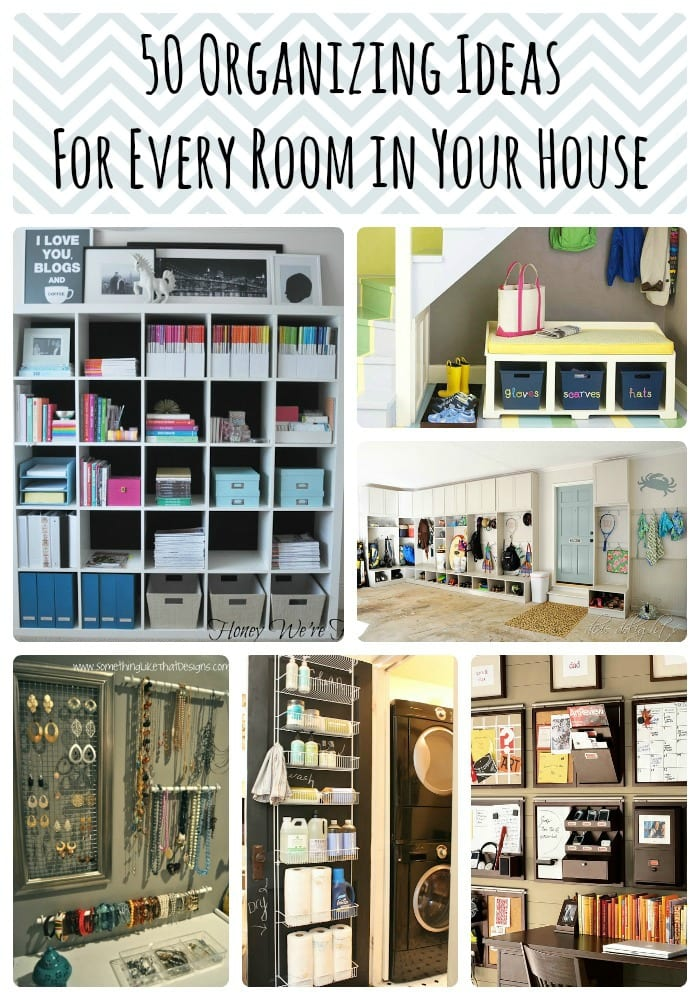 50 organizing ideas for every room in your house jamonkey for Room organization