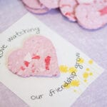 DIY Recycled Seed Paper Heart Valentines