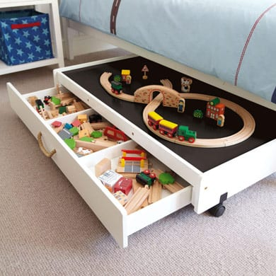 Under the bed play table