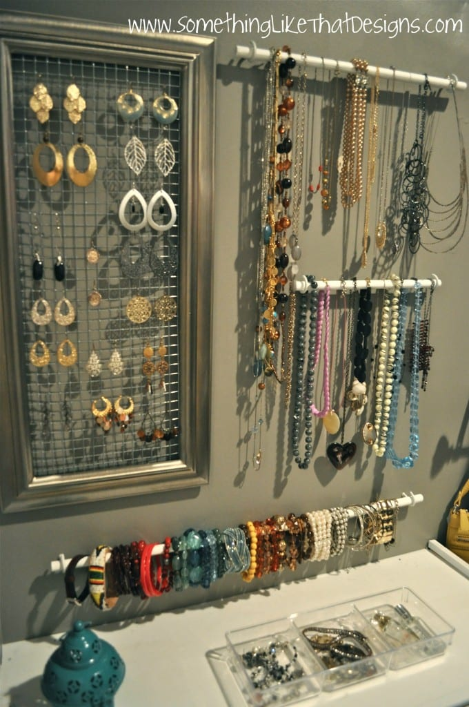 How To Make Over The Door Jewelry Organizer With Hole Board
