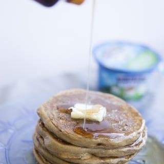 Cafe Latte Greek Yogurt Pancakes